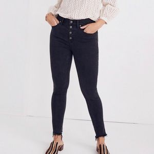 """NEW Madewell Button Fly 9"""" High Rise Skinny Jeans"""